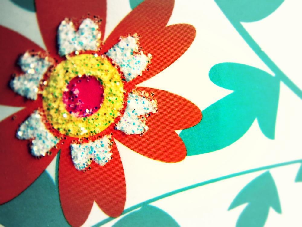 Photo in Lomo #glitter #gift #flower #lomo #soft focus #retro #1960s #floral #design