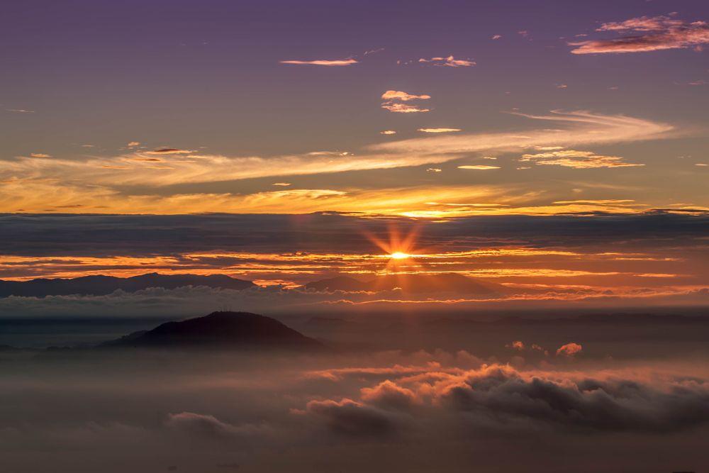 Photo in Landscape #penang #hill #sunrise #clouds #sun #sunshine #sunlight #malaysia