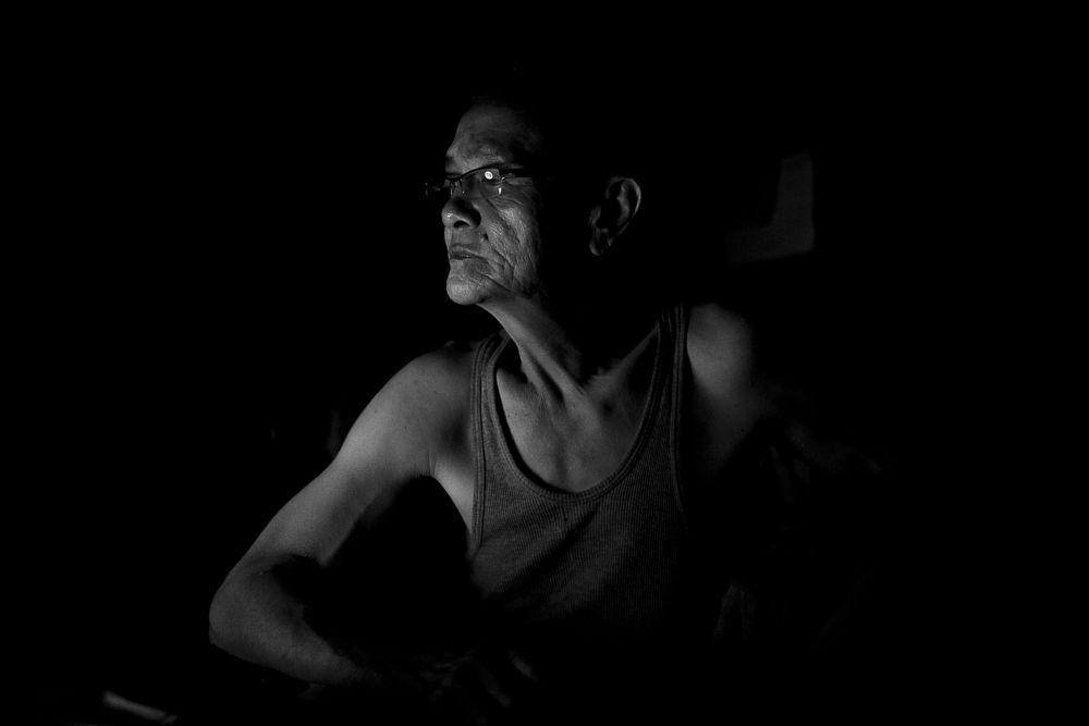 Photo in Portrait #people #portrait #light #low key #hope #old
