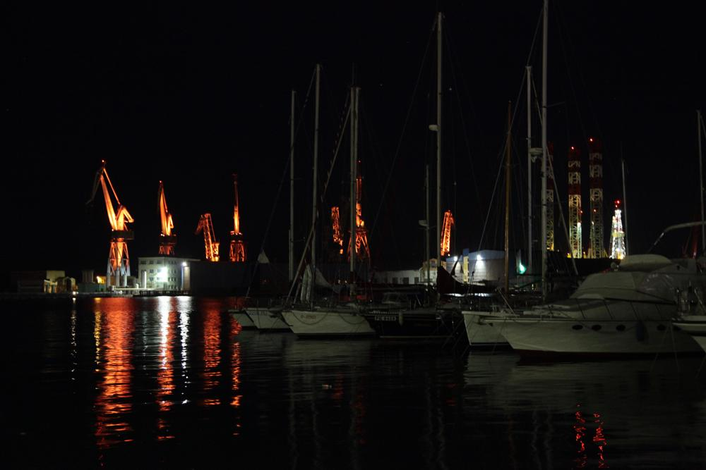 Photo in Cityscape #harbor #night #pula