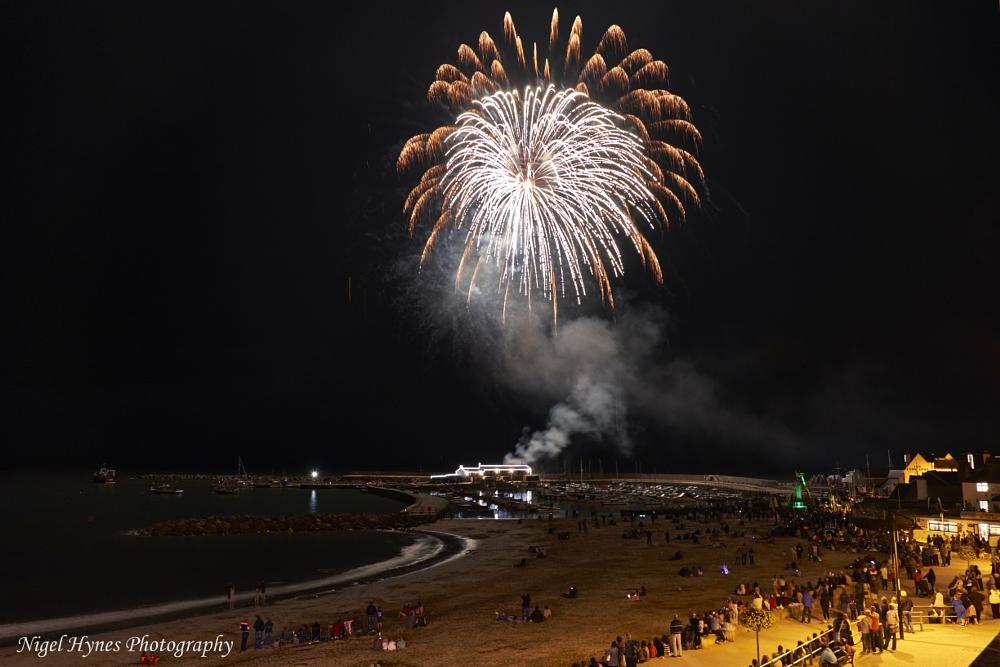 Photo in Sea and Sand #lyme regis carnival #fireworks #fuji #xpro1 #18-55mm #landscape #long exposure
