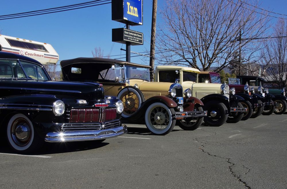 Photo in Random #fords #antiques #spoke wheels #early iron #big headlights #wide whitewalls #all metal #old autos