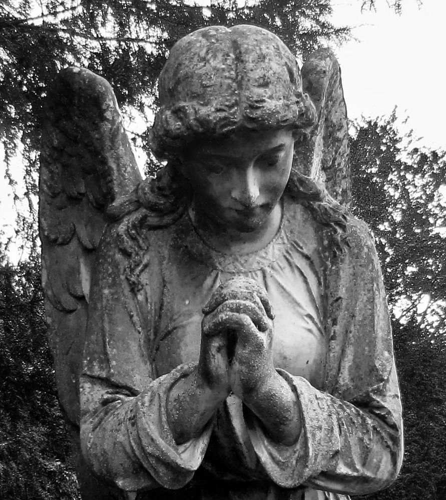 Photo in Black and White #cookham #angel #churchyard #prayer #stanley spencer