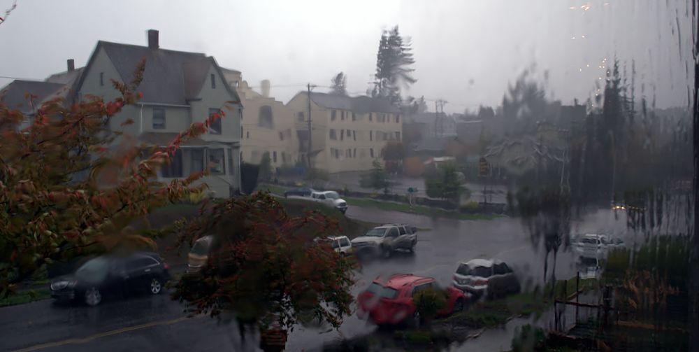Photo in Nature #streaming rain #window view #rain #storm