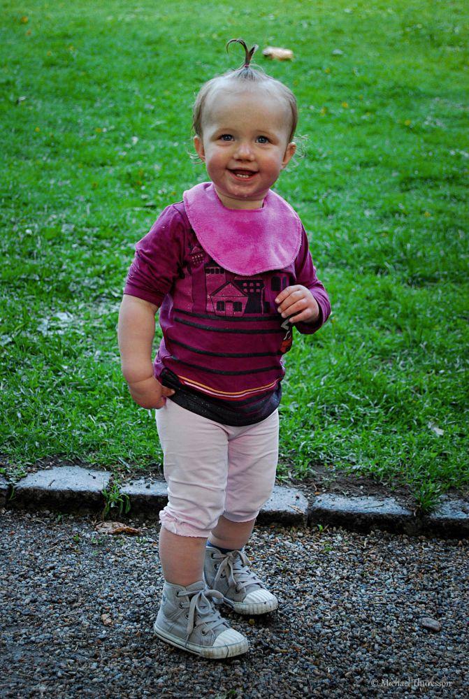 Photo in Portrait #portrait #little girl #summer #raining #people