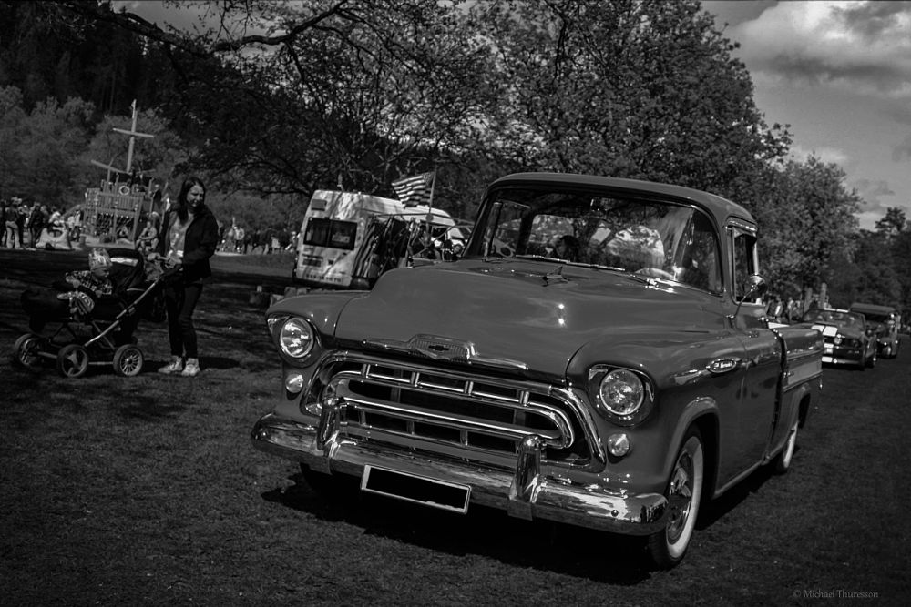 Photo in Vehicle #black and white #vehicle #summer #chevrolet 1957 #chevrolet