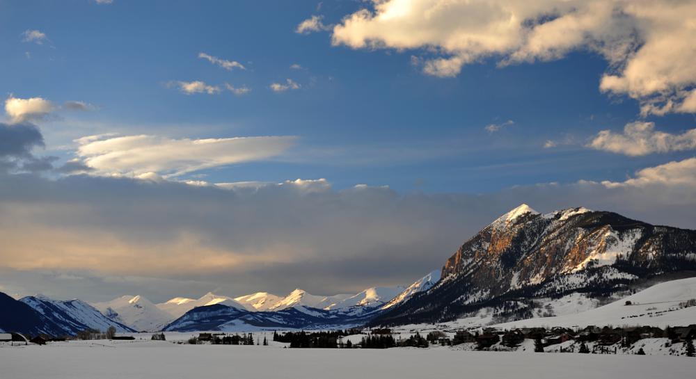 Photo in Landscape #crested butte #snow #ski #usa #sunset