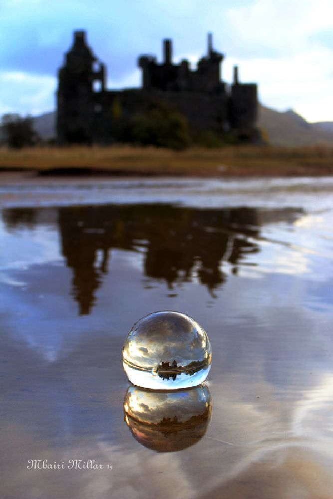 Photo in Landscape #water #crystal ball #reflections #castle #scotland #argyll
