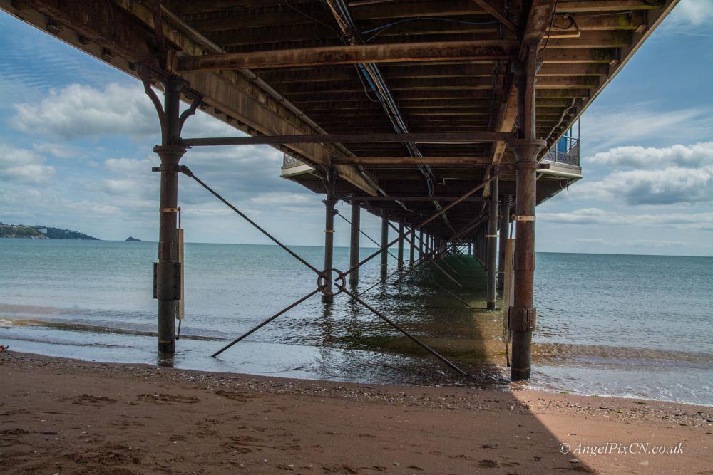 Photo in Sea and Sand #pier #walk #beach #sea #sun #clouds #blue #summer #holiday