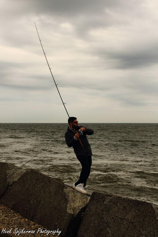 Photo in Random #wijk aan zee #sportvissen #henk spijkerman