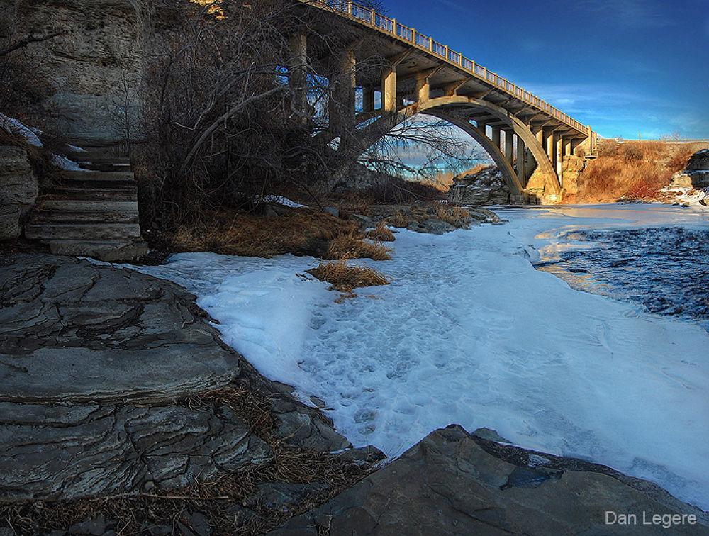 Photo in Architecture #lundbreck #falls #bridge #ypa2013 #nikon d40 #d40 #nikon #danlegere #dan #legere #d7000 #kit lens #dan legere