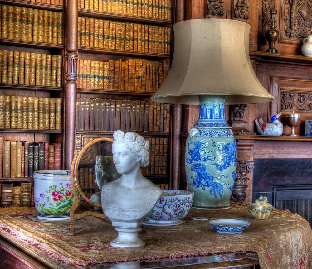 Photo in Random #bust #vase #books #duck #mirror