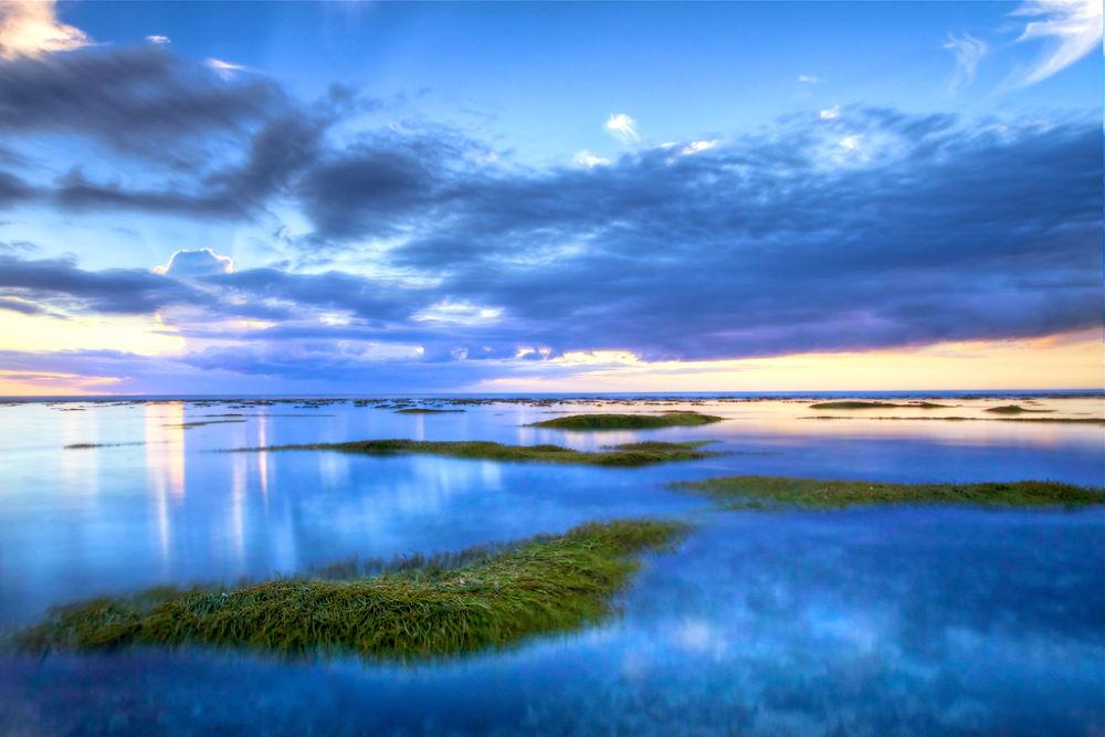 Photo in Random #ypa2013 #landscape #reunion #island #lagoon #beach #blue #long exposure #sdg