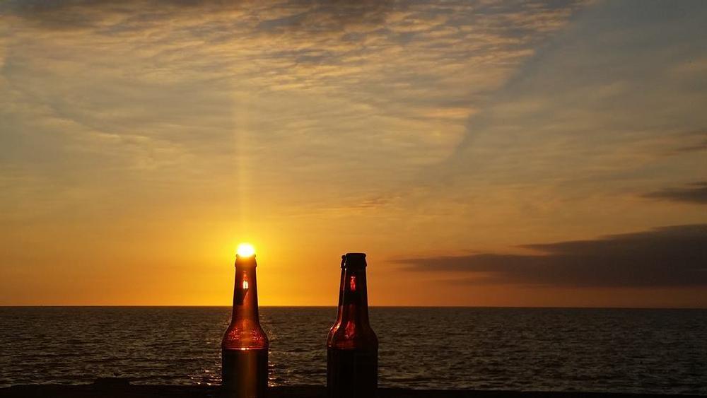 Photo in Random #beer #bottles #sunrise #fun