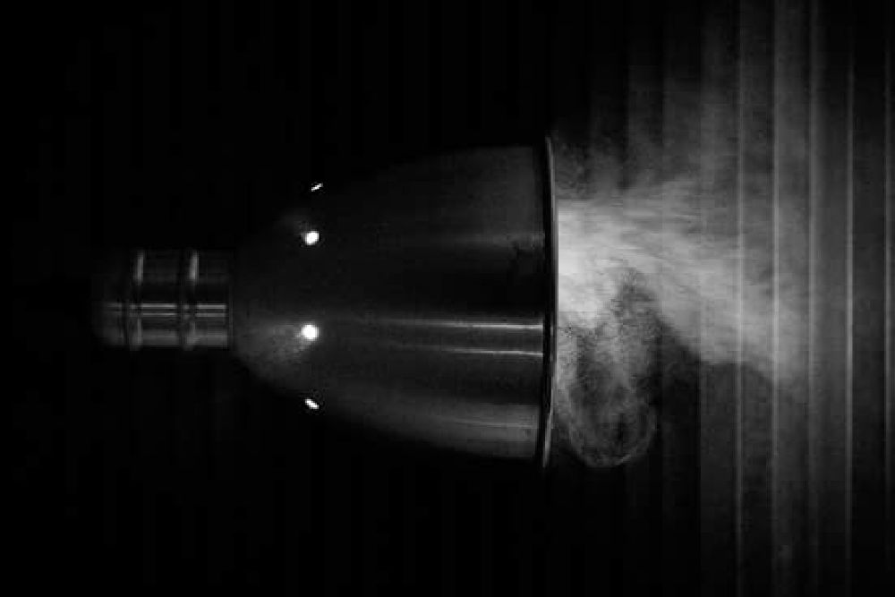 Photo in Black and White #lamp #smoke #boiling #water