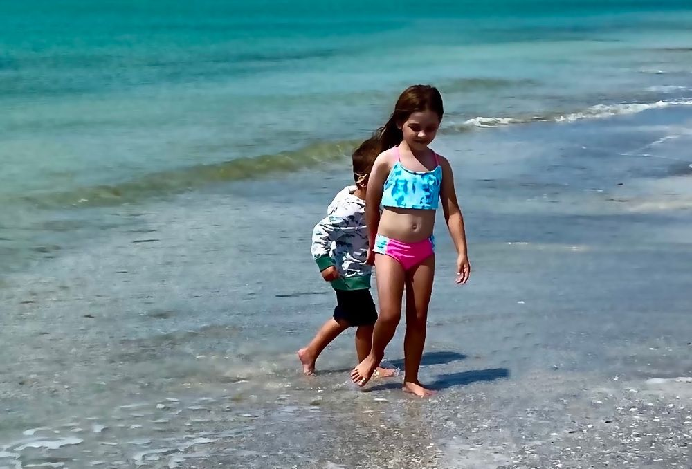 Photo in Sea and Sand #beach #children #play #nature #sand