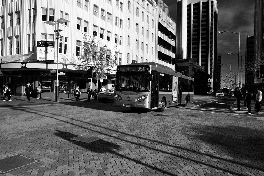 Photo in Black and White #street #city #bus #perth