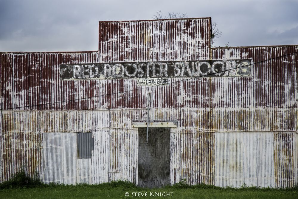 Photo in Rural #abandoned #ice house #saloon #red #old #building #texas