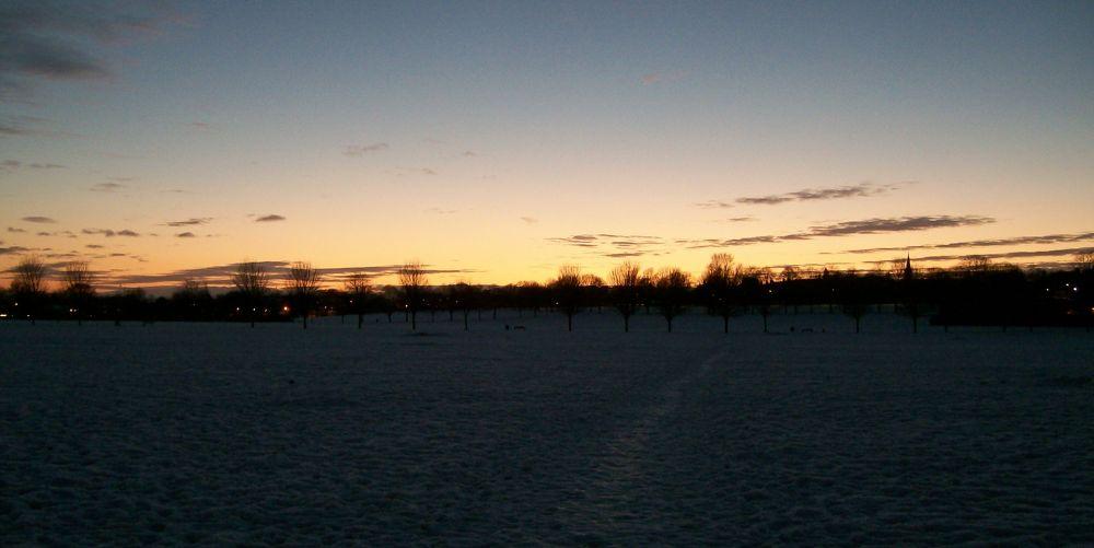 Photo in Landscape #winter #sunset #snow