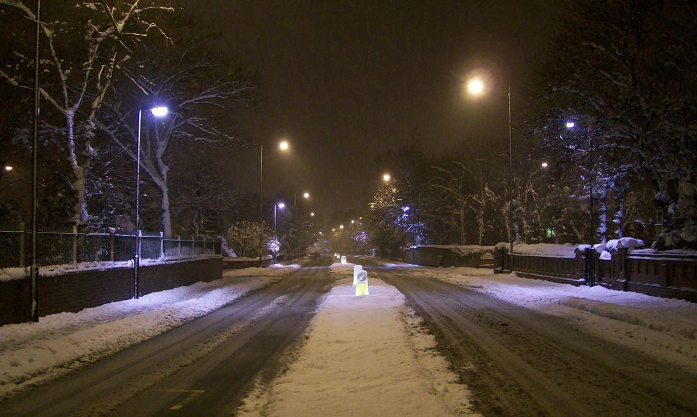 Photo in Random #snow #road #night