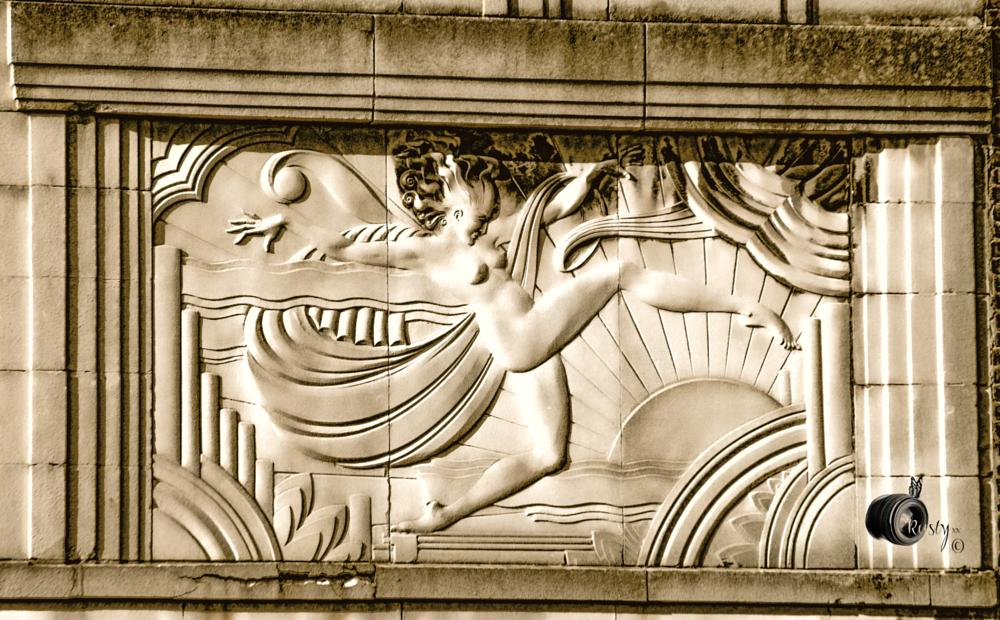 Photo in Architecture #architecture #woman #naked #artdeco