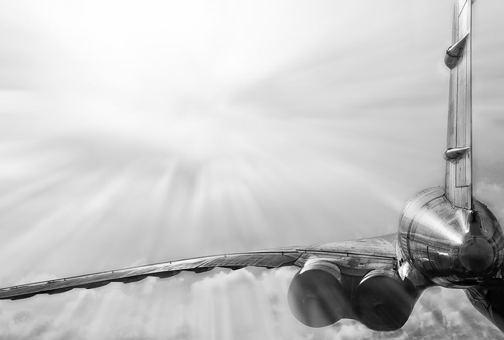 Photo in Black and White #airplane #tupolev