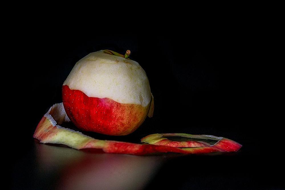 Photo in Still Life #apple #undressed