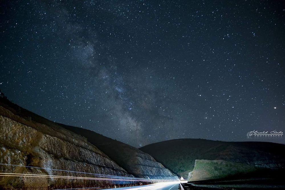 Photo in Nature #night #road #stars