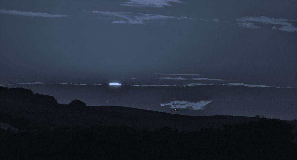 Photo in Landscape #moon #false #night #sunset #dark #clouds #shadows #hills #trees