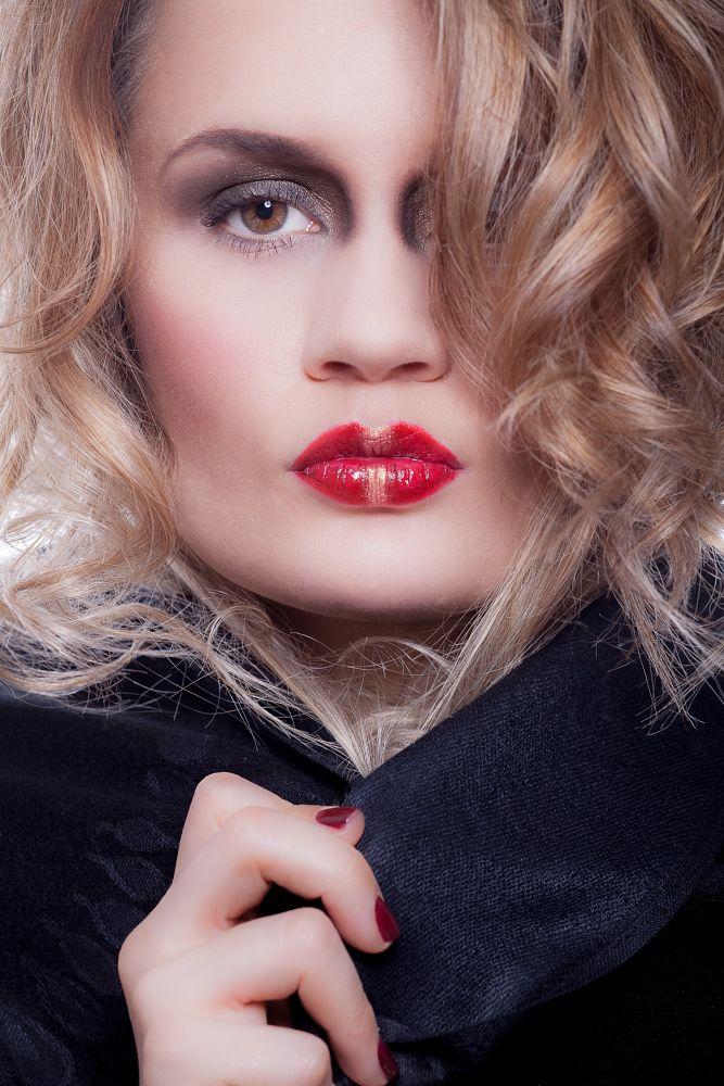 Photo in Portrait #portrait #lips #lipstick #studio #model