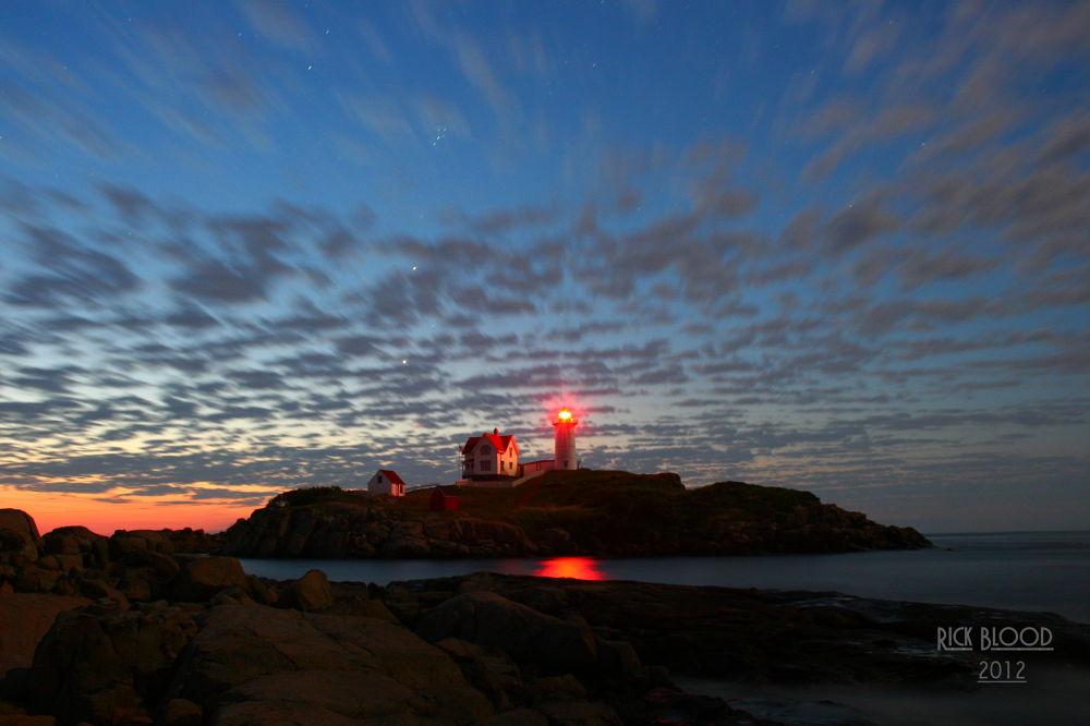 Photo in Random #lighthouse #nubble light #cape neddick #sunrise #clouds #sky #morning