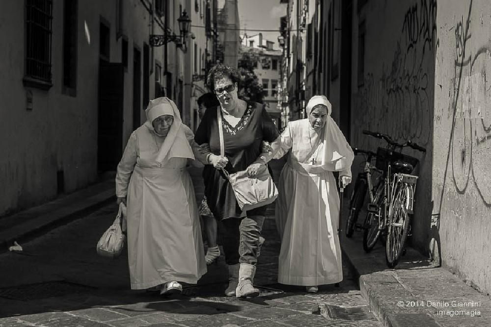 Photo in Street Photography #street photography #black and white #florence #italy