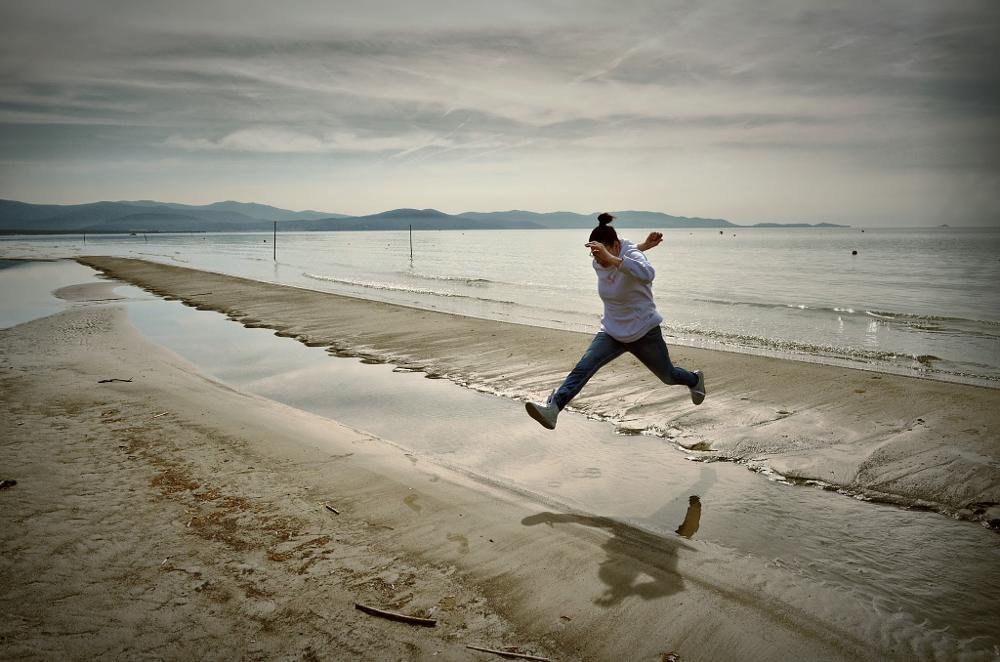 Photo in Sea and Sand #jump #landscape #sea #seascape