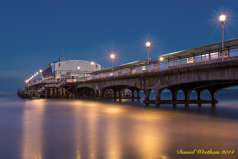 Photo in Landscape #bournemouth pier #night #long exposure #daniel wretham #bournemouth #dorset #seascape #landscape