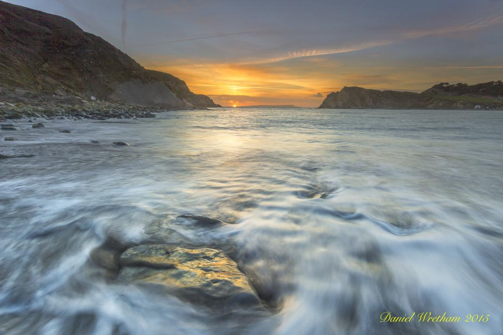 Photo in Landscape #sunset #sunrise #lulworth cove #dorset #jurassic coast #beach #sun #water #waves #long exposure #daniel wretham