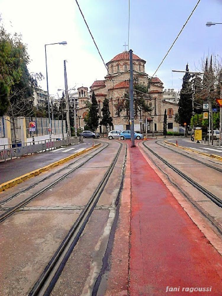 Photo in Random #church #city #tramtrails