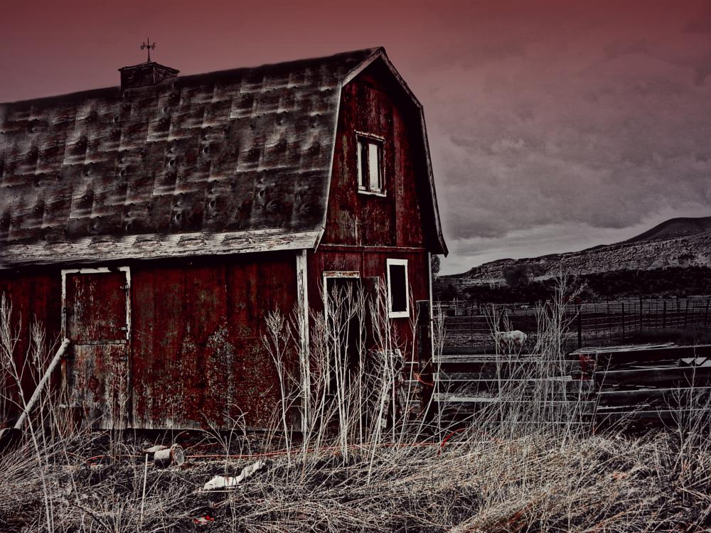 Photo in Landscape #red barn #landscape #farming #ranching #hdr