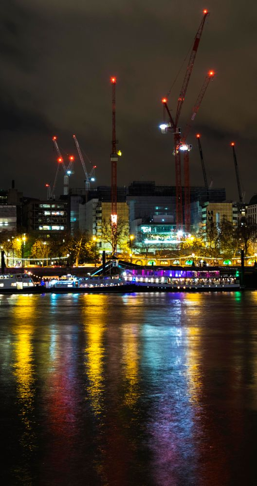 Photo in Random #lights #reflections thames #southbank