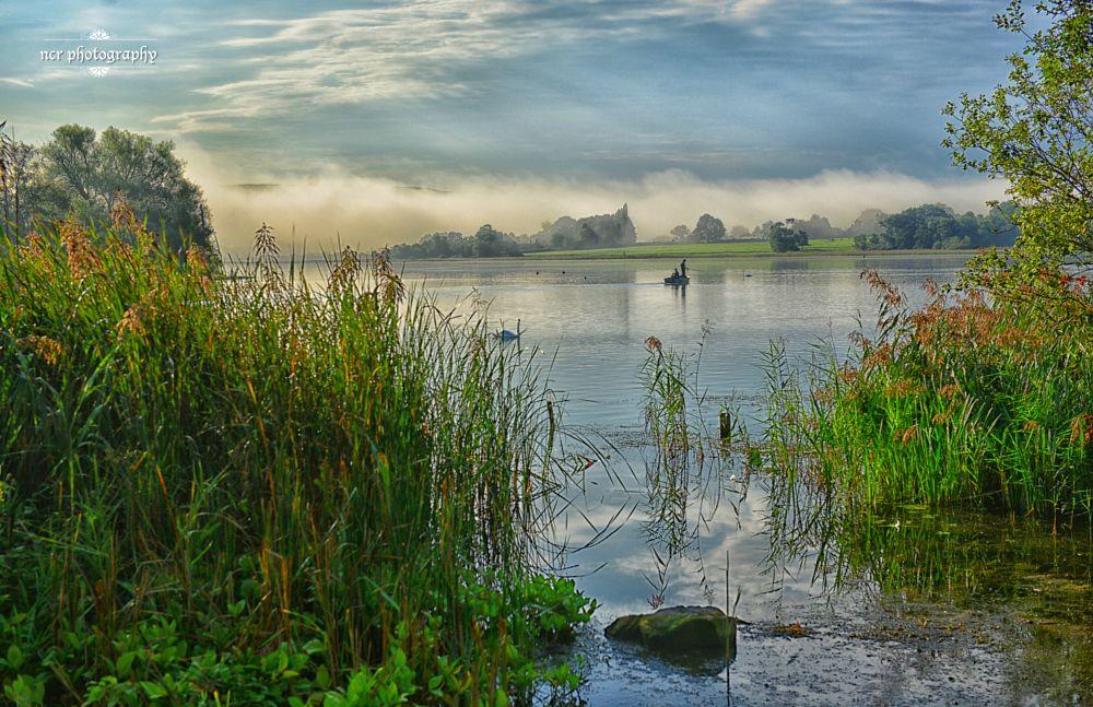 Photo in Landscape #llangorse lake #brecon beacons #fishermen #boat #lake #nikon d800 #nikkor #wales
