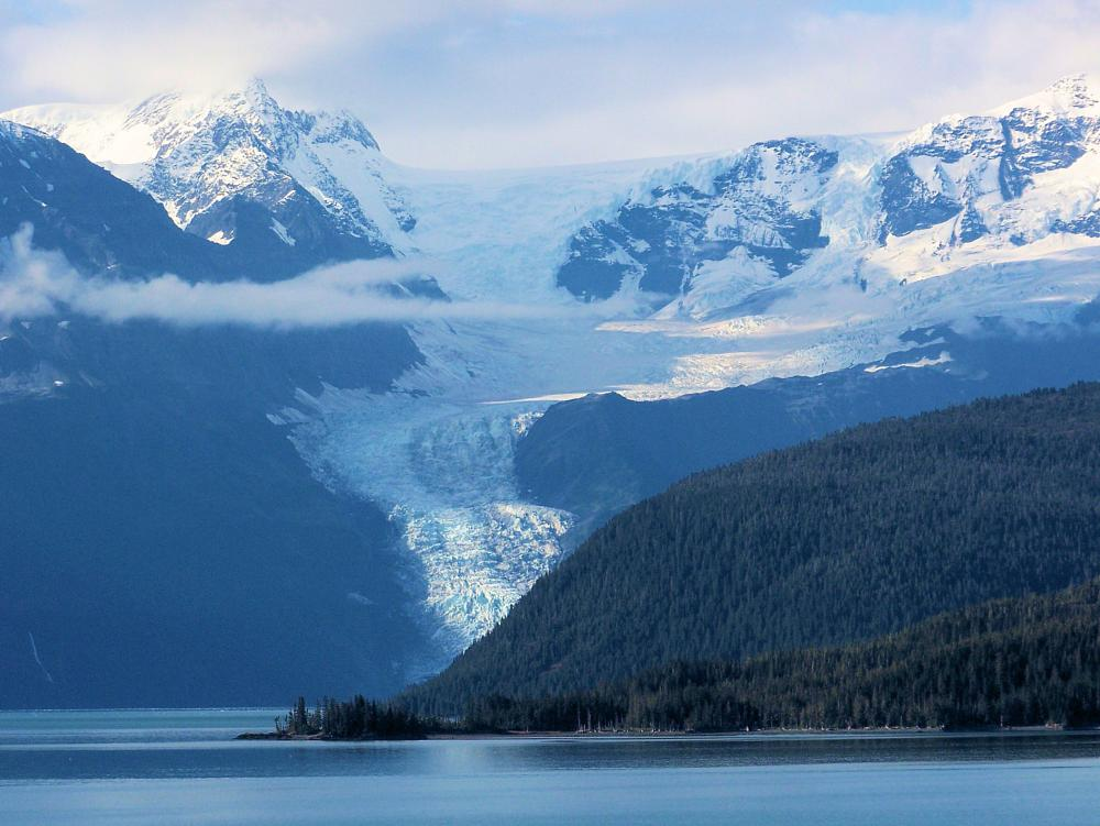 Photo in Landscape #collage-fjord #glacier #alaska
