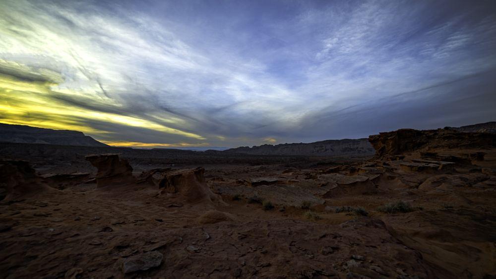 Photo in Landscape #sandstone #formations #desert #mountains #sunset