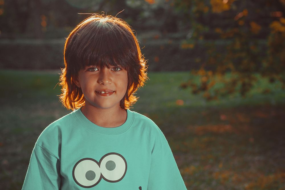 Photo in People #people #portrait #retrato #personas #child #niño #park #parque #smile #light #sunset