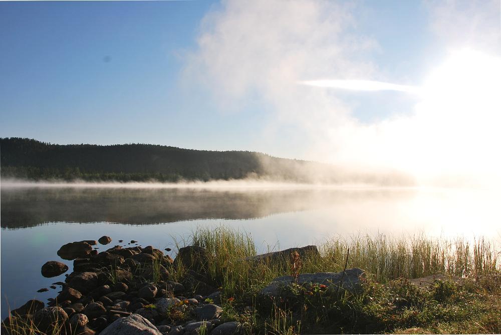 Photo in Landscape #nature #landscape #river #water #morning #blue #sky #light #sun #beautiful