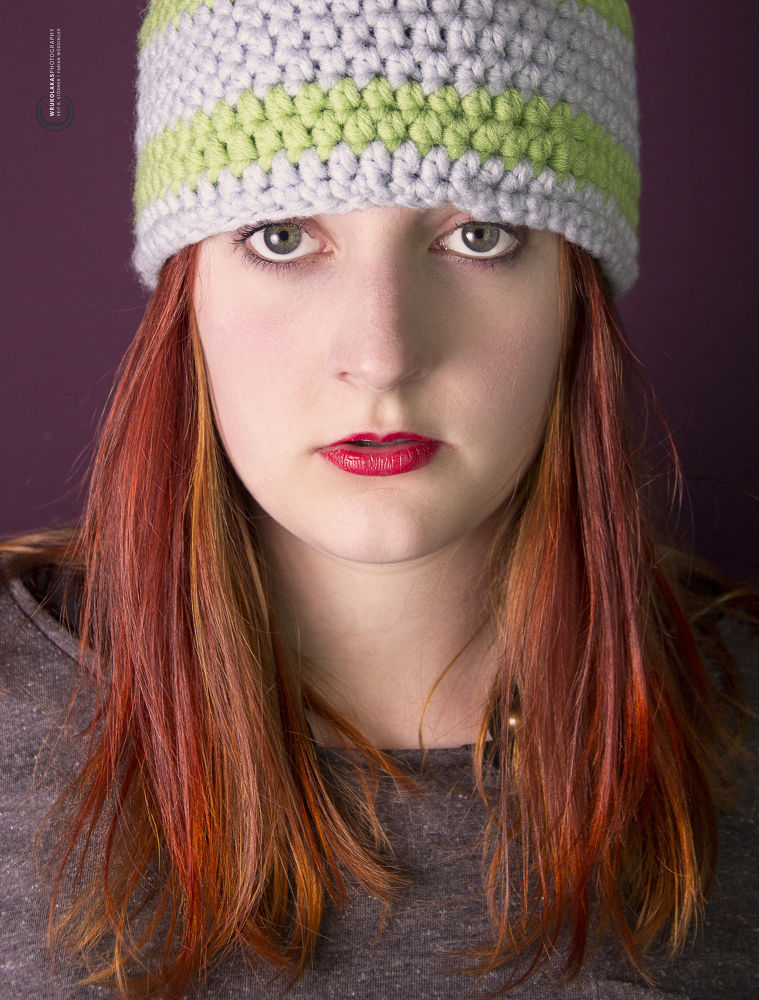 Photo in Portrait #boshi #laura #ottilie #red hair #red lips #green eyes