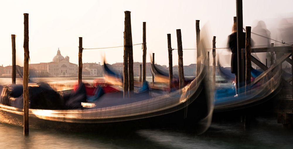 Photo in Fine Art #venice #venezia #veneto #italy #italia #color #long exposure #gondola #gondole #sea #canal grande