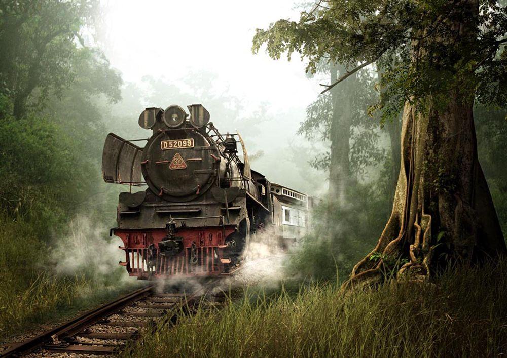Photo in Random #train #indonesia #transportation