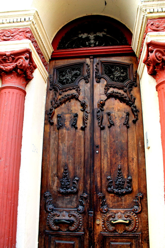 Photo in Architecture #santiago #chile #cityscape #wooden doors