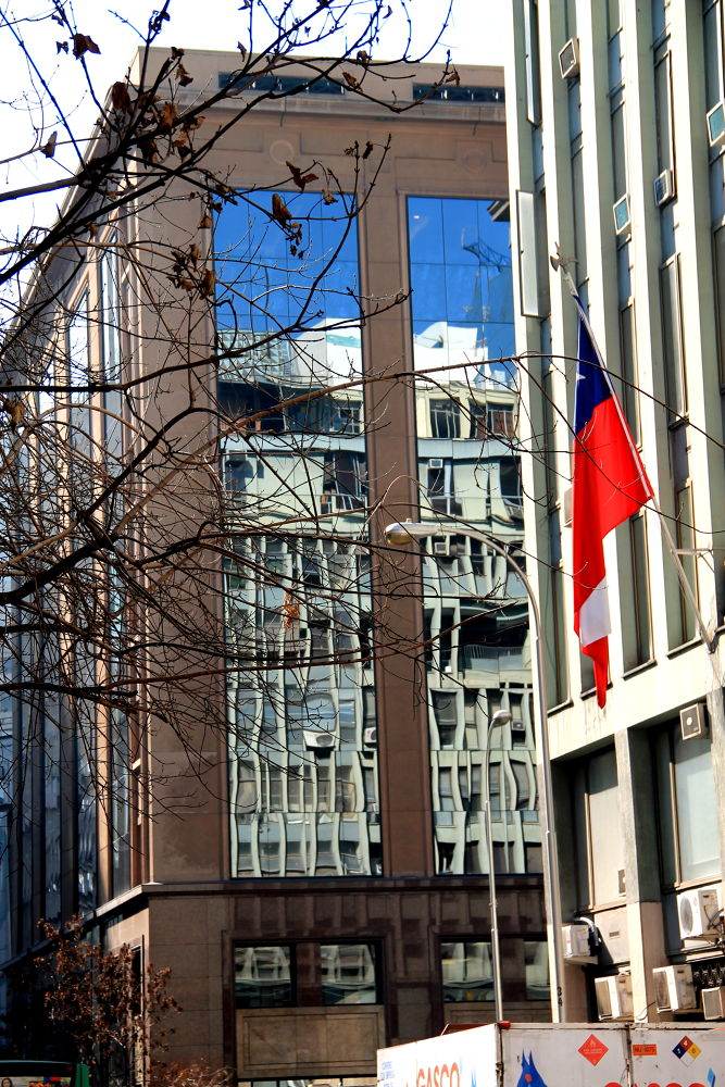 Photo in Cityscape #santiago #chile #reflections #cityscape #street photography