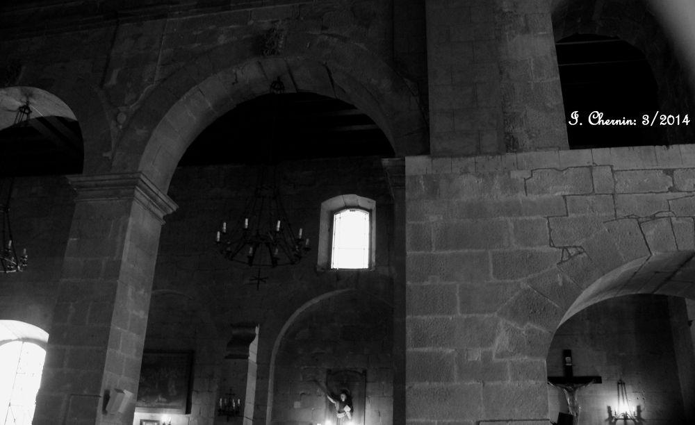 Photo in Interior #santiago chile #church #interior #black and white