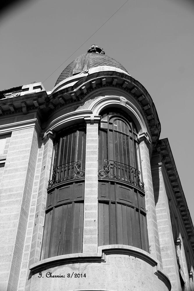 Photo in Architecture #santiago chile #black and white #architecture #cityscape #buildings #vintage construction
